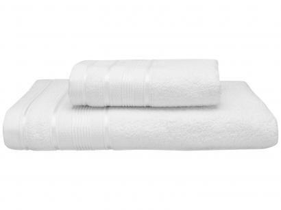 Jogo de Toalhas de Banho Santista 100% Algodão - Royal Knut Branco 2 Peças