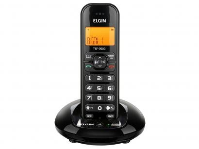 Telefone Sem Fio Elgin TSF 7600 - Identificador de Chamada Viva Voz Chave Bloq.
