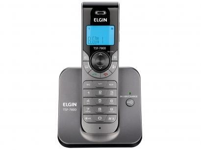 Telefone Sem Fio Elgin TSF 7800 - Identificador de Chamada Viva Voz Conferência