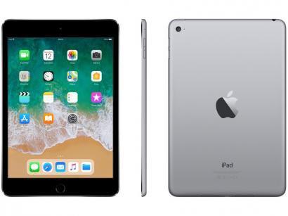 iPad Mini 4 Apple 128GB Cinza Tela 7,9 Retina - Wi-Fi Processador A8 Câmera 8MP...