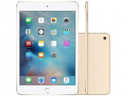 iPad Mini 4 Apple 128GB Dourado Tela 7,9 Retina - Wi-Fi Processador M8 Câmera...
