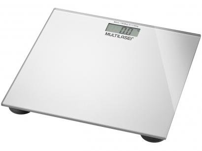 Balança Digital até 180kg Vidro Temperado - Multilaser Digi-Health