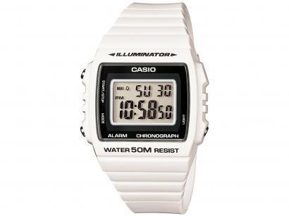 Relógio Unissex Casio Digital - W-215H-7AVDF Branco