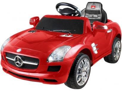 Carro Elétrico Infantil Mercedes Benz - com Controle Remoto Emite Sons 6V Xalingo
