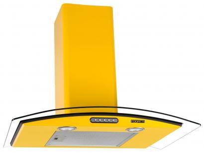 Coifa de Parede Fogatti 70cm com Vidro Curvo - 3 Velocidades CVC SLIM 70