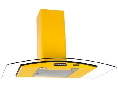 Coifa de Parede Fogatti 90cm com Vidro Curvo - 3 Velocidades CVC Slim 90