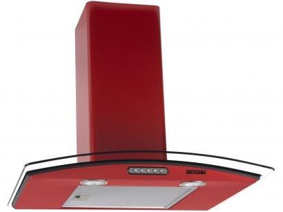 Coifa de Parede Fogatti 60cm com Vidro Curvo - 3 Velocidades CVC SLIM 60