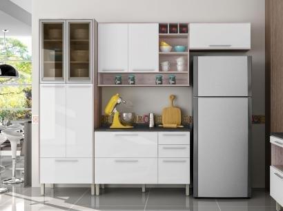 Cozinha Compacta Nesher Class 2 com Balcão - 6 Nichos 9 Portas 4 Gavetas