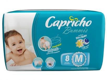 Fralda Capricho Bummis Tam M 8 Unidades - Tecnologia Respirável