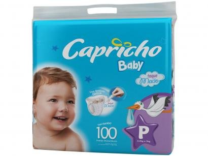 Fraldas Capricho Baby Tam P - 100 Unidades