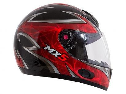 Capacete MX5 Blade Mixs Preto e Vermelho - Tam. 60