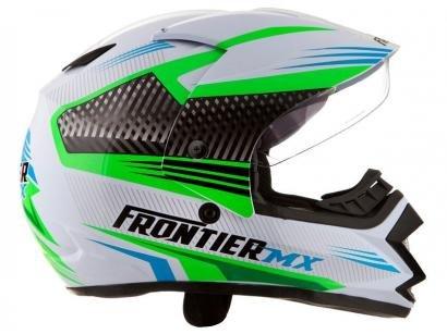 Capacete Frontier Air Mixs Branco, Verde e Azul - Tam. 60