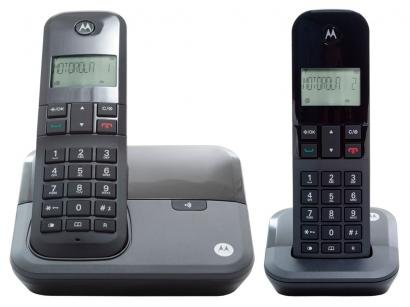 Telefone Sem Fio Motorola MOTO 3000 MRD2 + 1 Ramal - Identificador de Chamada...