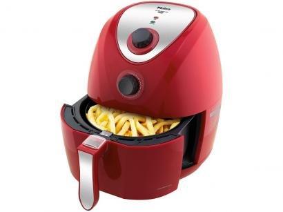 Fritadeira Elétrica Sem Óleo/Air Fryer Philco - Air Fry Saúde Vermelha 3L com...