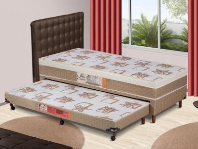 Cama Box Solteiro Hellen Conjugado - 53cm de Altura Cama Auxilia Aspen