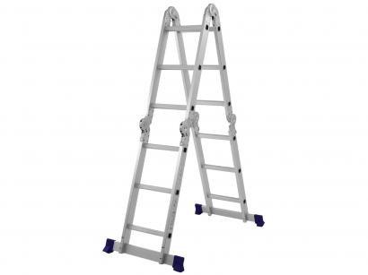 Escada Multifuncional Articulada Alumínio Mor - 12 Degraus Everest