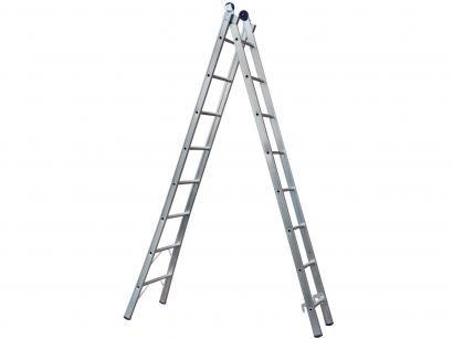 Escada Alumínio Extensível Mor 16 Degraus - Dupla 2x8