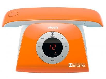 Telefone sem fio VTech Retro Phone O - Identificador de Chamada Viva Voz Laranja