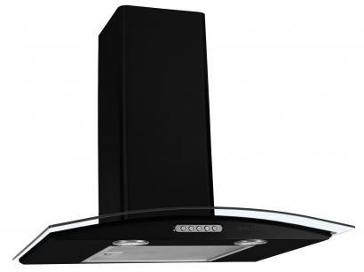 Coifa de Parede Nardelli Inox 60cm com Vidro Curvo - 3 Velocidades Slim BLACK...