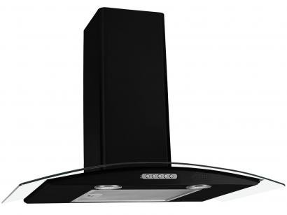 Coifa de Parede Nardelli Inox 70cm com Vidro Curvo - 3 Velocidades Slim BLACK...