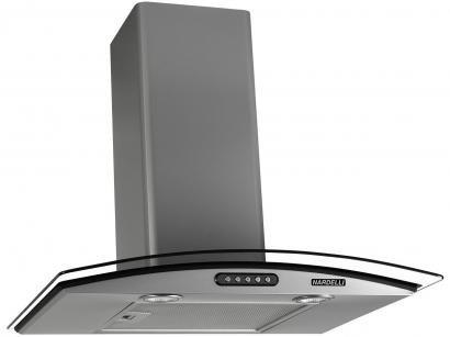 Coifa de Parede Nardelli Inox 60cm com Vidro Curvo - 3 Velocidades Slim PRATA...