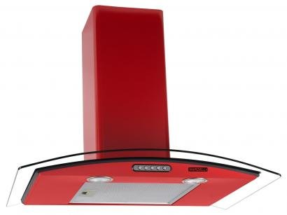 Coifa de Parede Nardelli Inox 70cm com Vidro Curvo - 3 Velocidades Slim RED 110V