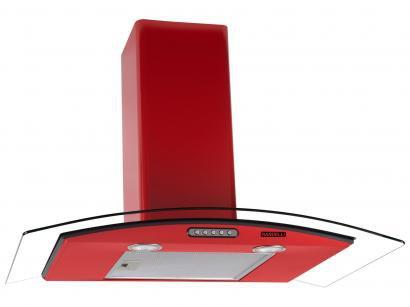 Coifa de Parede Nardelli 80cm com Vidro Curvo - 3 Velocidades Slim RED