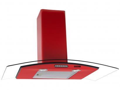 Coifa de Parede Nardelli 90cm com Vidro Curvo - 3 Velocidades Slim RED