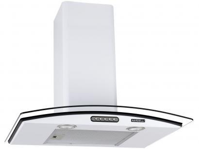 Coifa de Parede Nardelli Inox 60cm com Vidro Curvo - 3 Velocidades Slim WHITE