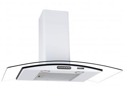 Coifa de Parede Nardelli 90cm com Vidro Curvo - 3 Velocidades Slim WHITE