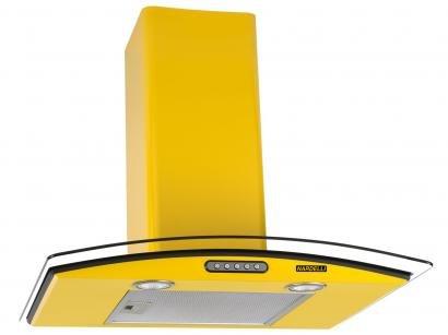 Coifa de Parede Nardelli 60cm com Vidro Curvo - 3 Velocidades Slim YELLOW