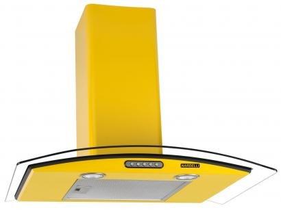 Coifa de Parede Nardelli 70cm com Vidro Curvo - 3 Velocidades Slim YELLOW