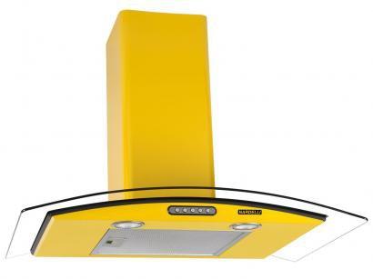 Coifa de Parede Nardelli 75cm com Vidro Curvo - 3 Velocidades Slim YELLOW