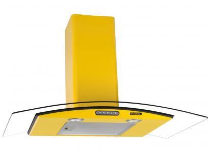 Coifa de Parede Nardelli 90cm com Vidro Curvo - 3 Velocidades Slim Yellow 220V