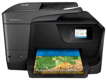 Multifuncional HP Officejet Pro 8710 Jato de Tinta - Colorida Wi-Fi