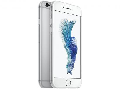 "iPhone 6s Apple 128GB Prata 4G Tela 4.7"" Retina - Câm. 12MP + Frontal 5MP iOS..."