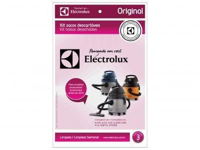 Saco para Aspirador de Pó Electrolux CSE09 - Descartável 3 Unidades