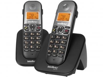 Telefone Sem Fio Intelbras TS 5122 + 1 Ramal - Identificador de Chamada Viva Voz Conferência