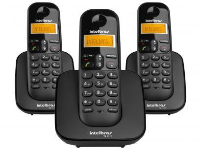 Telefone Sem Fio Intelbras TS 3113 + 2 Ramais - Identificador de Chamada...