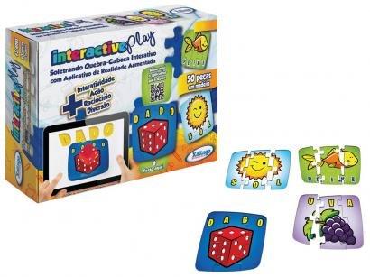 Quebra-cabeça 50 Peças Interactive Play Soletrando - Xalingo