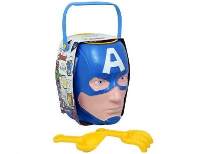 Baldinho de Praia Marvel Avengers - Capitão América 4 Peças Xalingo