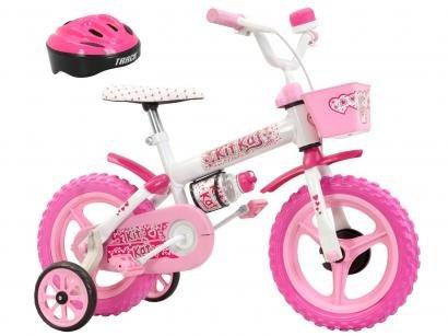 Bicicleta Iinfantil Kit Kat Aro12 Track & Bikes - Rosa Com Rodinhas Com...