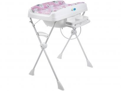 Banheira de Bebê Burigotto com Suporte e Trocador - Millenia Peixinhos 20L