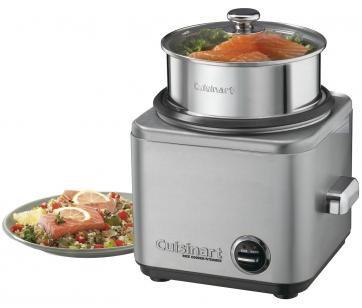 Panela Elétrica de Arroz Cuisinart CRC 800 - 650W Timer Aço Escovado
