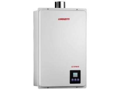Aquecedor de Água à Gás Eletrônico Digital - Lorenzetti LZ 3700D GN Vazão 36,5...