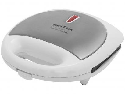 Sanduicheira Britânia Bello Pane Inox 750W - Antiaderente Branco