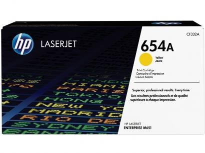 Toner HP 654A LaserJet - Amarelo