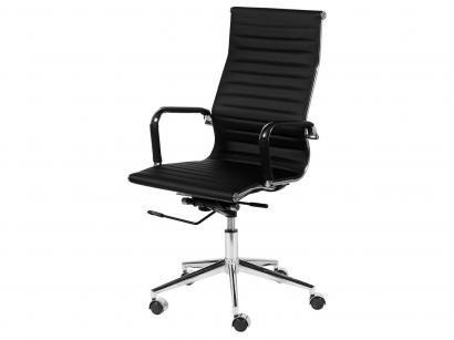 Cadeira Aço Cromado para Escritório Giratória - Ór Design Office Eames Esteira...