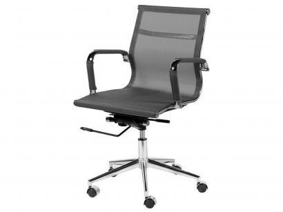 Cadeira Cromado para Escritório Giratória - Ór Design Office Eames Baixa