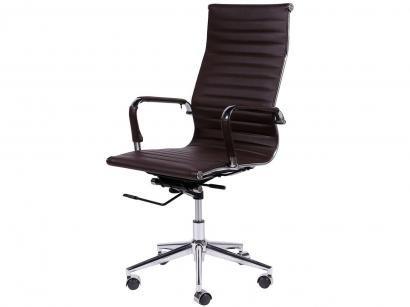 Cadeira Cromada para Escritório Giratória - Ór Design Office Eames Alta
